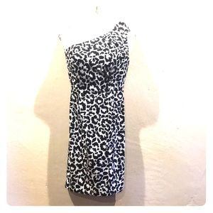 Black and white business casual dress